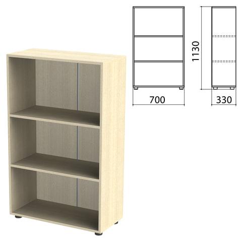 "Шкаф (стеллаж) ""Канц"" 700х330х1130 мм, 2 полки, цвет дуб молочный"