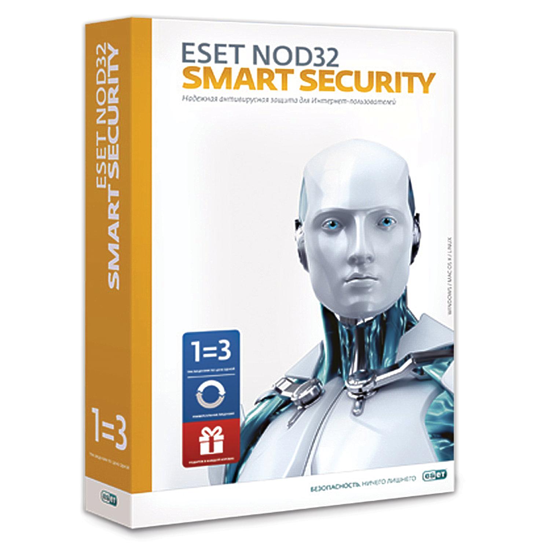 """Антивирус ESET NOD32 """"Smart Security+Bonus"""", 3 ПК, 1 год или продление на 20 месяцев, ESS-1220BOX-1-1"""