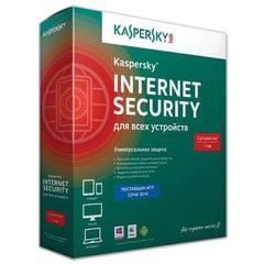 "Антивирус KASPERSKY ""Internet Security"", лицензия на 2 устройства, 1 год, бокс, KL1941RBBFS"