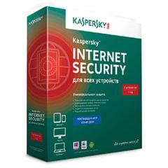 """Антивирус KASPERSKY """"Internet Security"""", лицензия на 3 устройства, 1 год, бокс, KL1941RBCFS"""
