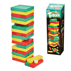 """Игра настольная Башня """"Торре"""", окрашенные деревянные блоки, """"Десятое королевство"""", 01698"""