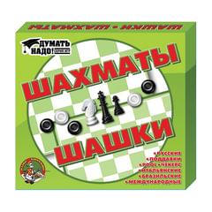 """Игра 2 в 1 """"Шахматы и шашки"""", 21х19 см, """"Десятое королевство"""", 01450"""