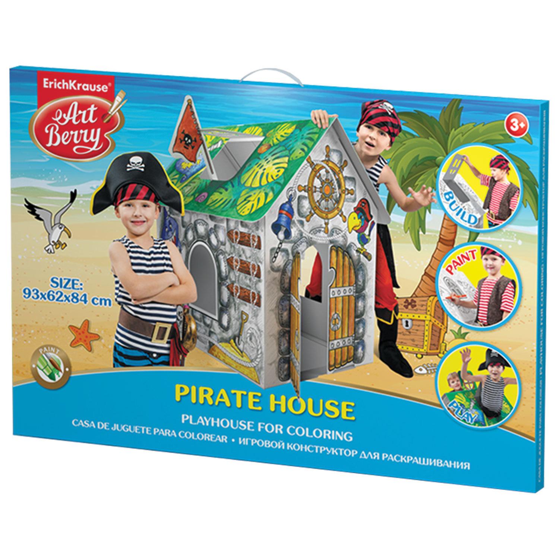 """Домик игровой для раскрашивания ERICH KRAUSE Artberry """"Домик пирата"""", картонный, 93х84х62 см, 39231"""