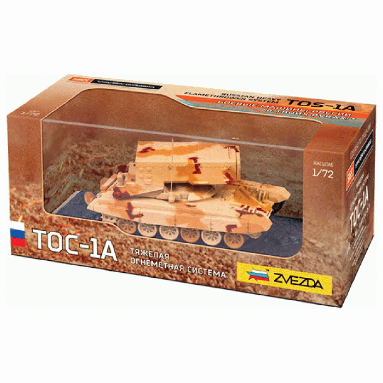 """Модель ТАНК """"Огнемётная система ТОС-1А"""", масштаб 1:72, ЗВЕЗДА, 2501"""
