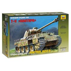 """Модель для склеивания ТАНК """"Средний немецкий T-V """"Пантера"""", масштаб 1:35, ЗВЕЗДА, 3678"""