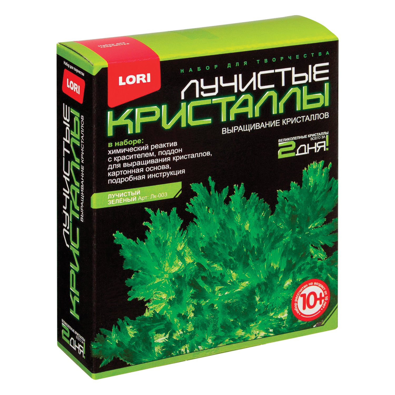 """Набор для изготовления лучистых кристаллов """"Зелёный кристалл"""", реагент, краситель, основа, LORI"""