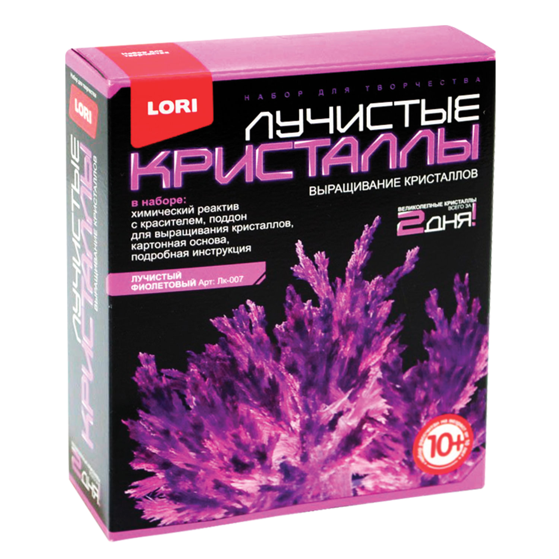 """Набор для изготовления лучистых кристаллов """"Фиолетовый кристалл"""", реагент, краситель, LORI"""