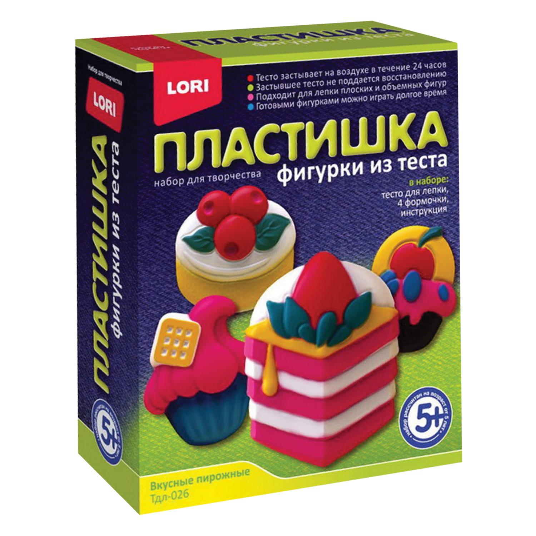 """Набор для изготовления фигур из теста ПЛАСТИШКА """"Вкусные пирожные"""", тесто для лепки, формы, LORI, Тдл-026"""