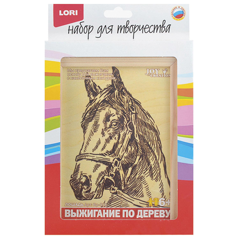 """Доска для выжигания в рамке """"Лошадь"""", основа из фанеры, рамка 13х18 см, LORI"""