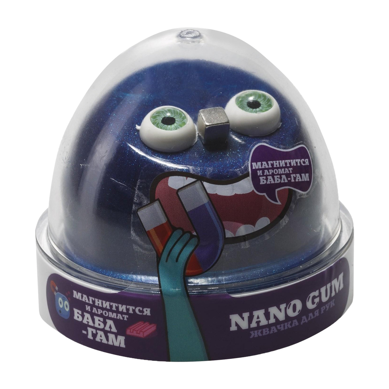 "Жвачка для рук ""Nano gum"", магнитная, аромат бабл-гам, 50 г, ВОЛШЕБНЫЙ МИР"