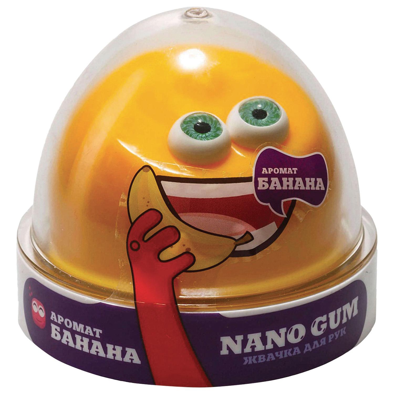 "Жвачка для рук ""Nano gum"", аромат банана, 50 г, ВОЛШЕБНЫЙ МИР, NGAB50"