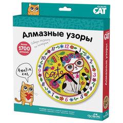 """Алмазная мозаика Amelia cat """"Часы"""", более 1700 элементов, ORIGAMI, 03218"""