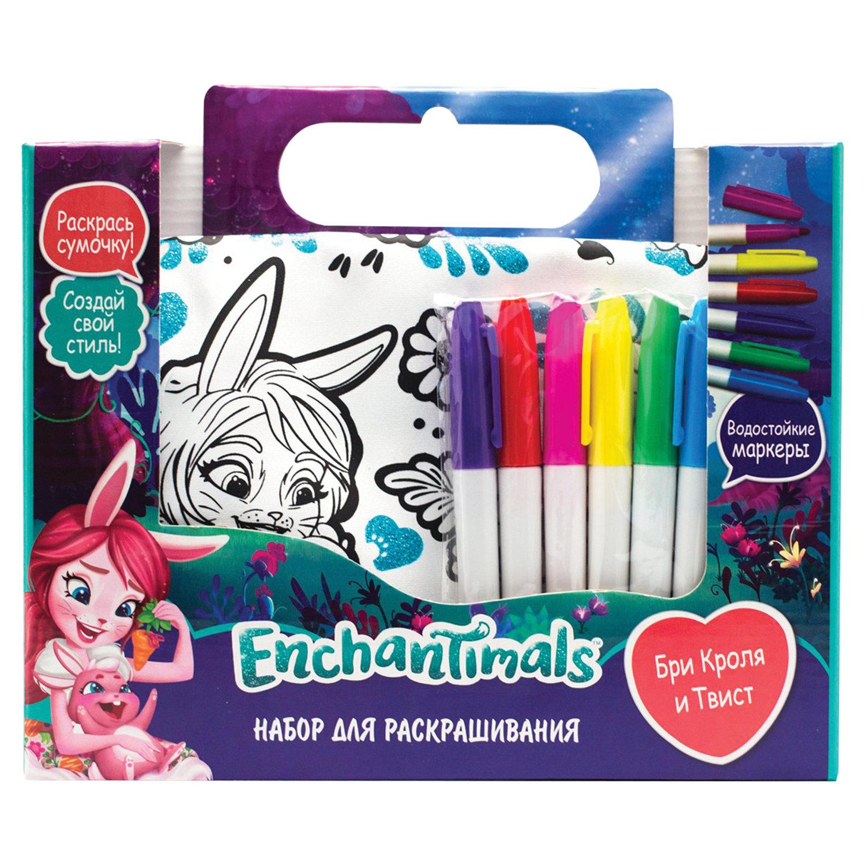 """Набор для творчества Enchantimals """"Бри и Твист"""", сумка для раскрашивания, маркеры, ORIGAMI, 03444"""