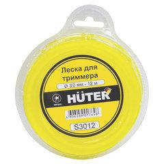 Леска для триммера, 3,0 мм х 12 м, сечение - звезда, блистер, HUTER S3012