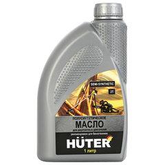 Масло моторное полусинтетическое, для двухтактных двигателей, 1 литр, HUTER 2T