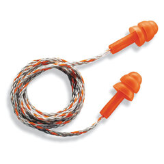 Беруши (противошумные вкладыши) UVEX Виспер, со шнурком, многоразовые, 1 пара в индивидуальной упаковке, 2111201