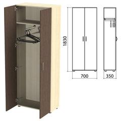 "Шкаф для одежды ""Канц"", 700х350х1830 мм, цвет дуб молочный/венге (КОМПЛЕКТ)"