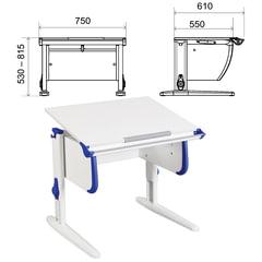Стол-парта регулируемый ДЭМИ СУТ.24, 750х610х530-815 мм, белый/синий (КОМПЛЕКТ)