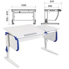 Стол-парта регулируемый ДЭМИ СУТ.25, 1200х610х530-815 мм, белый/синий (КОМПЛЕКТ)