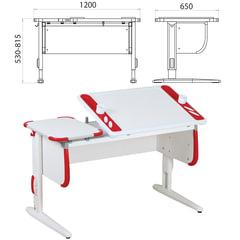 Стол-парта регулируемый ДЭМИ СУТ.31, 1200х650х530-815 мм, белый/красный (КОМПЛЕКТ)